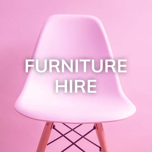 Chairs, tables and other furniture hire